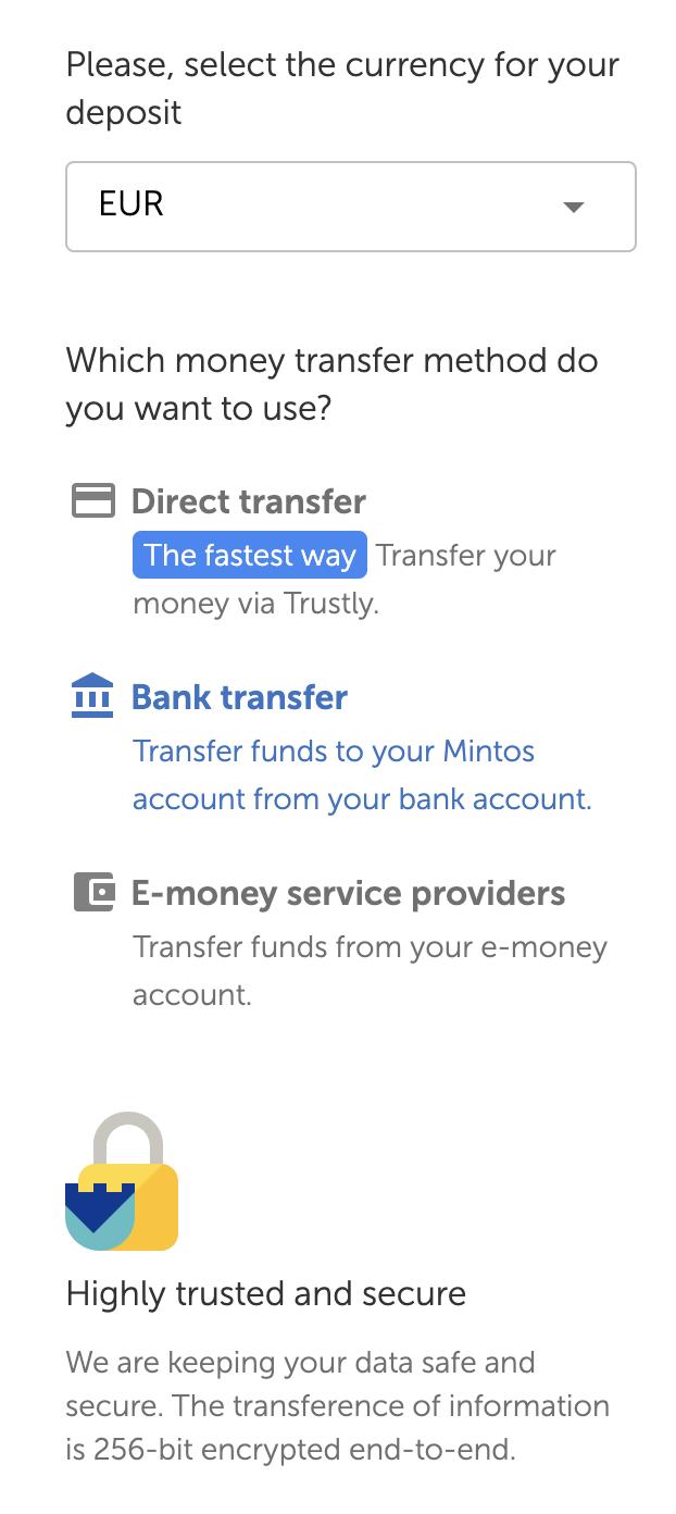 Mintos Adding Funds