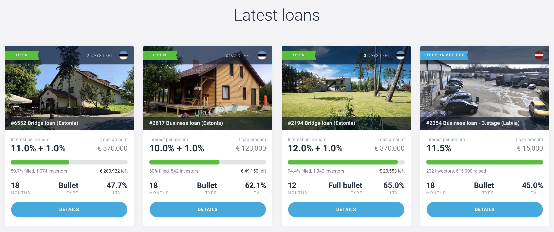 Estateguru latest loans review